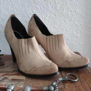 Envy Leather Slip On Heels